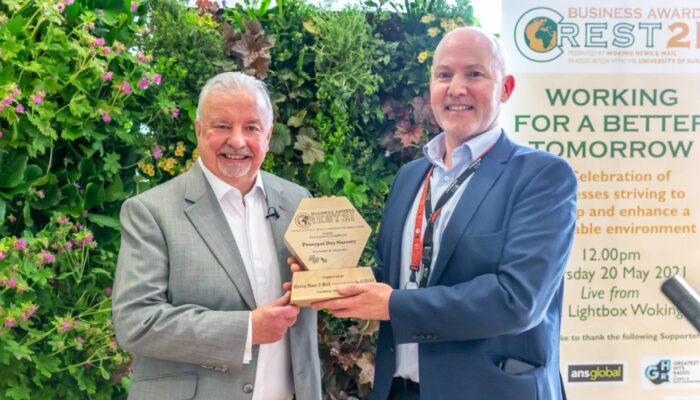 Terry with Pennypot Day Nursery, winner of Efficiency Award